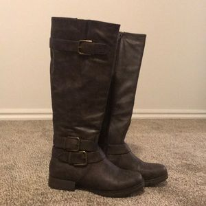 Taupe Autumn Knee High Boots
